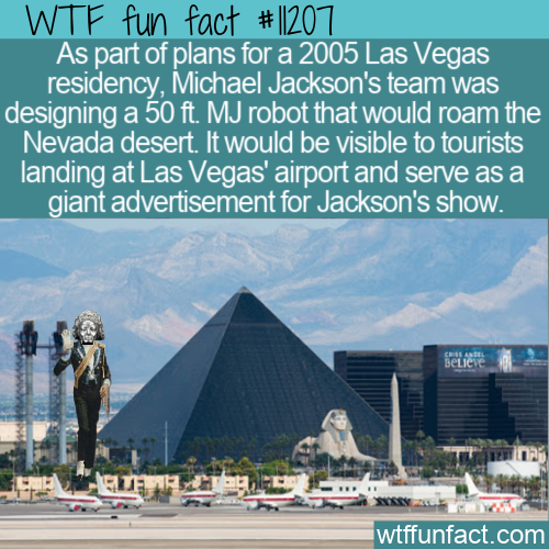 WTF Fun Fact - MJ Robot In Desert