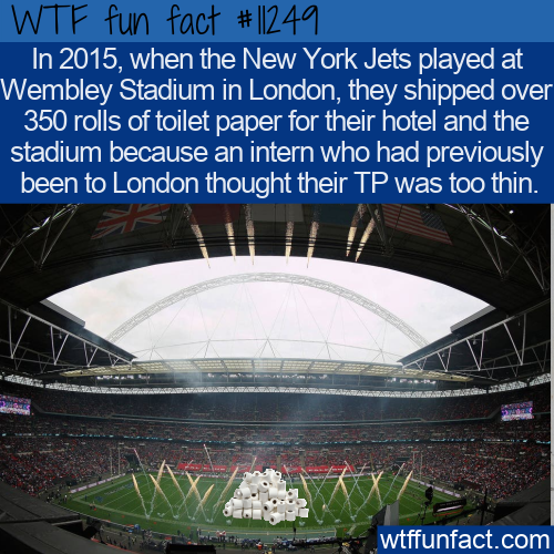 WTF Fun Fact - New York Jets Travelling Toilet Paper