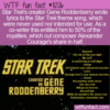 WTF Fun Fact – Star Trek Theme Lyrics