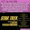 WTF Fun Fact – Star Trek Theme Lyrics