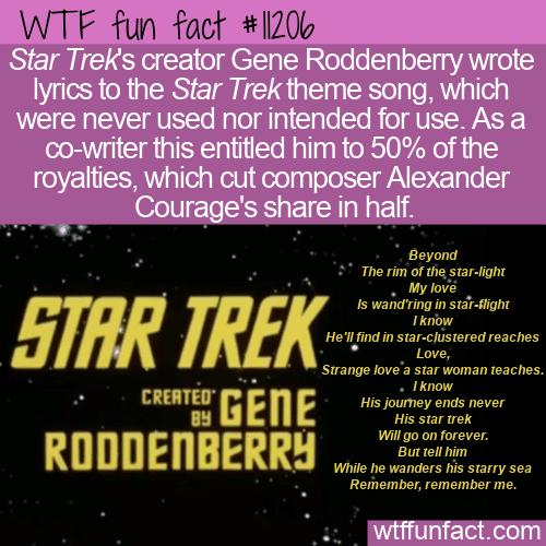 WTF Fun Fact - Star Trek Theme Lyrics