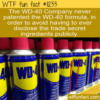 WTF Fun Fact – WD-40 Trade Secret Without A Patent