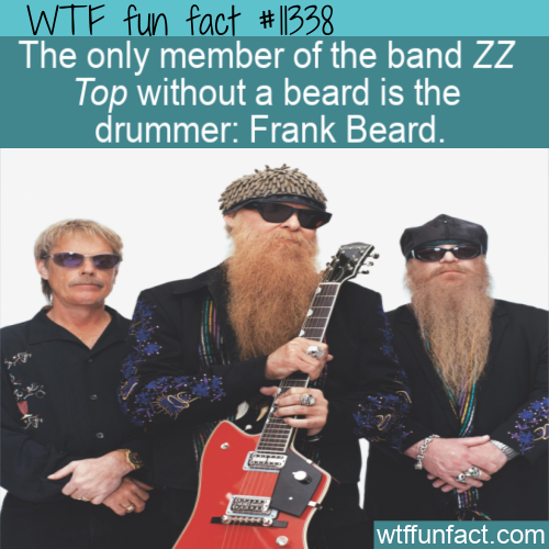 WTF Fun Fact - Beardless Frank Beard