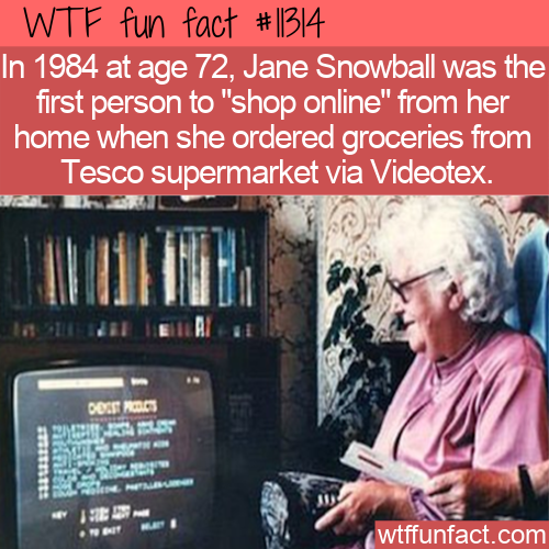 WTF Fun Fact - First Online Purchase