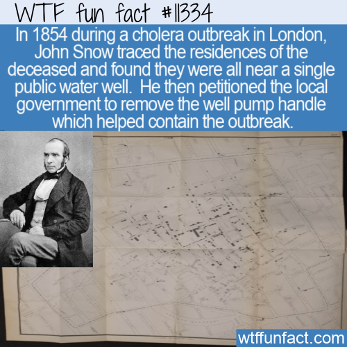 WTF Fun Fact - How To Stop A Cholera Outbreak