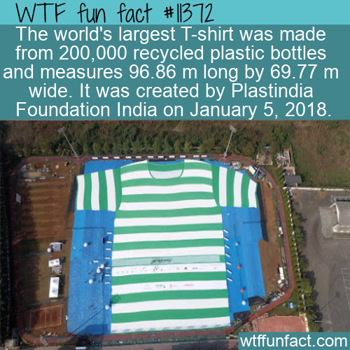 WTF Fun Fact - Largest Plastic T-Shirt