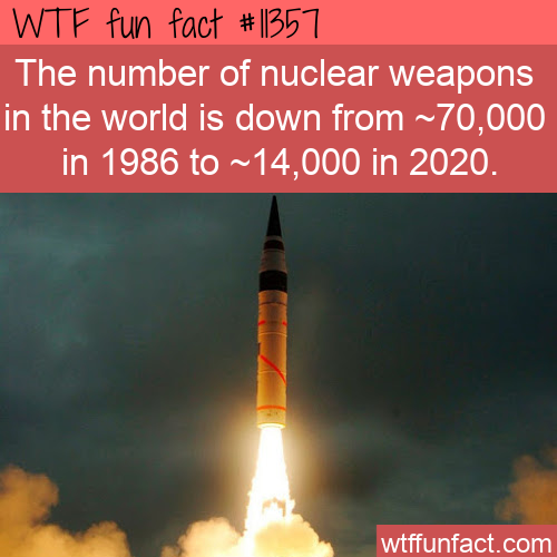 WTF Fun Fact - Less Nuclear Weapons