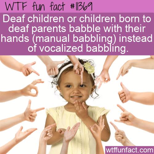 WTF Fun Fact - Manual Babbling
