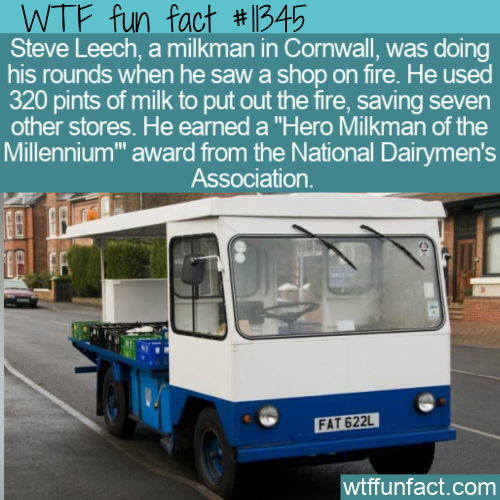 WTF Fun Fact - Milkman Firefighter