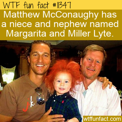 WTF Fun Fact - Miller Lyte And Margarita McConaughy