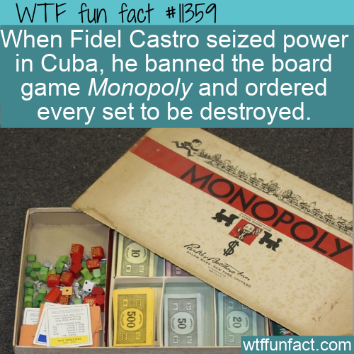 WTF Fun Fact - Monopoly Banned