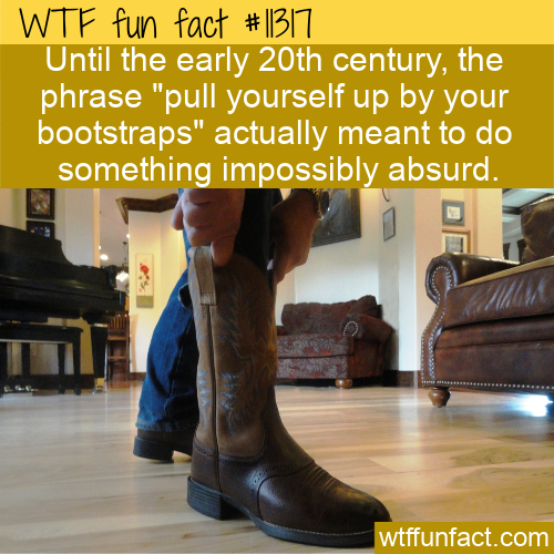 WTF Fun Fact - Pull Your Bootstraps Absurdity