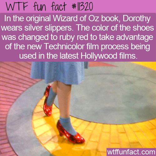 WTF Fun Fact - Silver Or Red Slippers