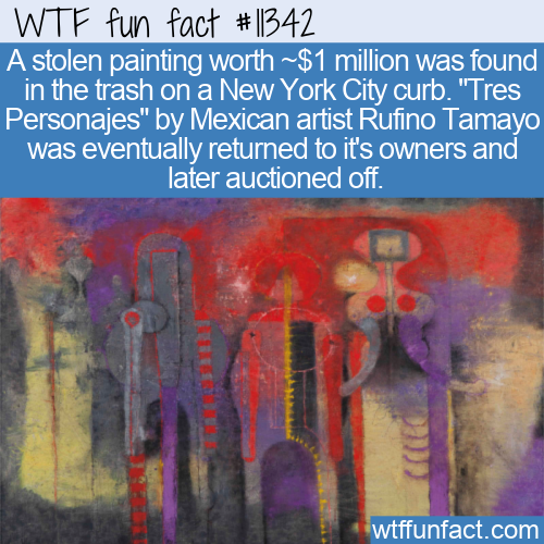 WTF Fun Fact - Stolen $1 Million Painting Found On Curb