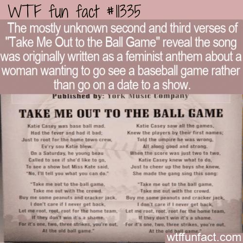 WTF Fun Fact - Unsuspecting Feminist Anthem