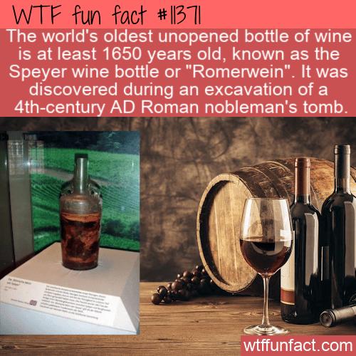 WTF Fun Fact - Wine Of Unopened Bottle