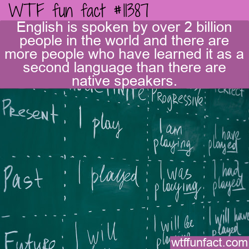 WTF Fun Fact - 2 Billion English Speakers