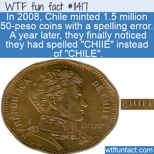 WTF Fun Fact - 50-Peso Coins From CHIIE