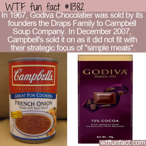 WTF Fun Fact - Campbell Soup And Chocolate