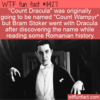 WTF Fun Fact – Count Wampyr Not Dracula