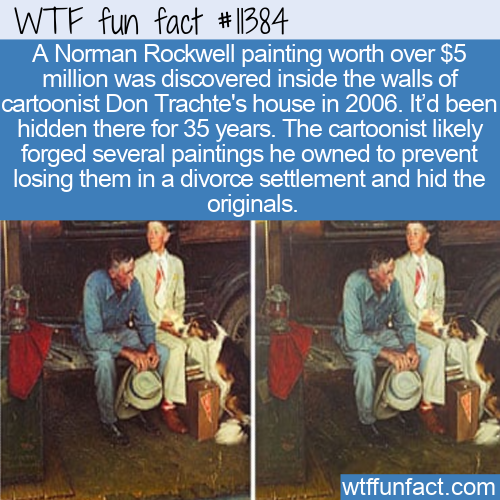 WTF Fun Fact - Hidden Norman Rockwell