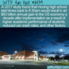 WTF Fun Fact – Moving High School Start Time
