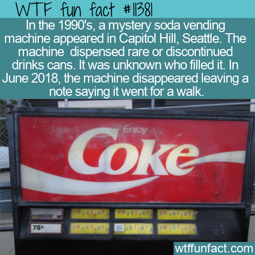 WTF Fun Fact - Mystery Soda Vending Machine
