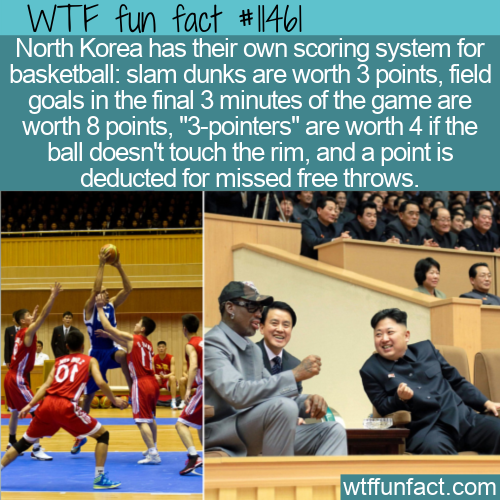 WTF Fun Fact - North Korean Basketball Scoring System