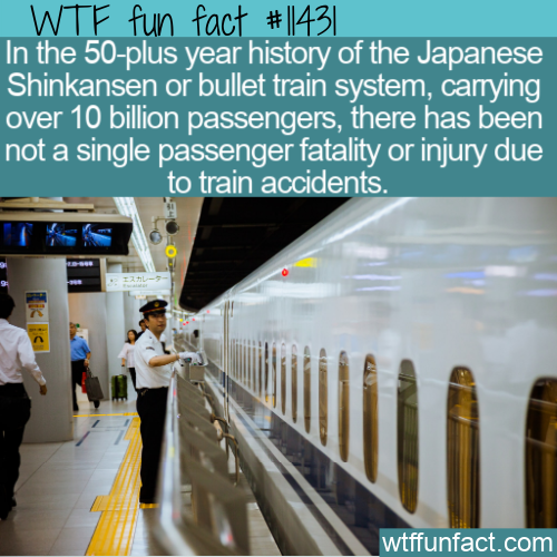 WTF Fun Fact - Shinkansen's Perfect Record