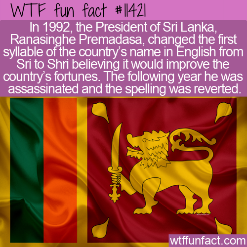 WTF Fun Fact - Shri Lanka