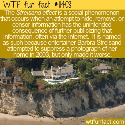 WTF Fun Fact - Streisand Effect