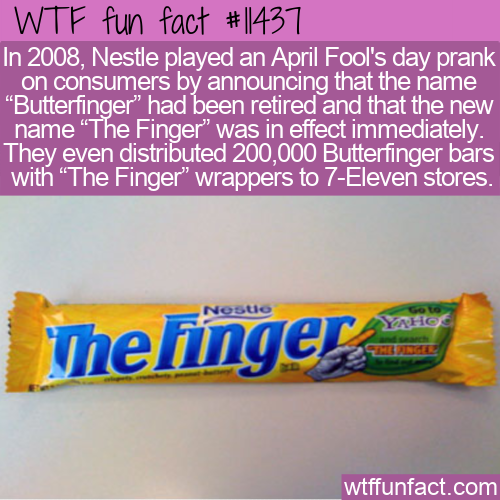WTF Fun Fact - The Finger Prank