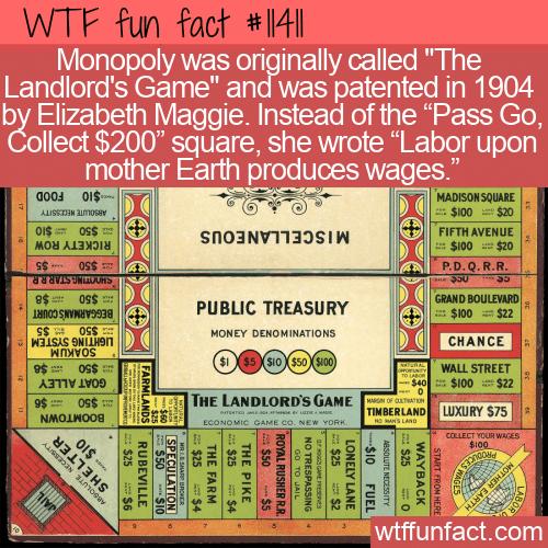 WTF Fun Fact - The Landlord's Game