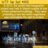 WTF Fun Fact – World's First Holographic Protest