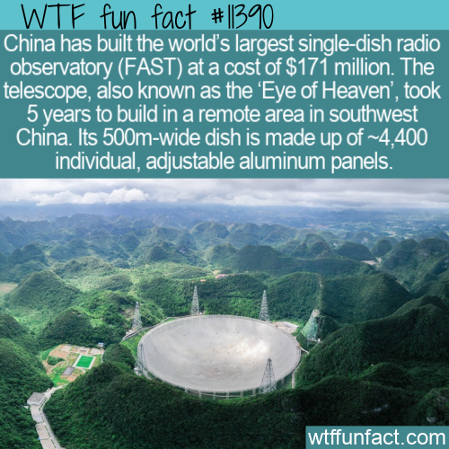 WTF Fun Fact - Five-hundred-meter Aperture Spherical Radio Telescope