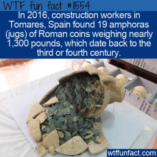 WTF Fun Fact - 1300 Pounds of Ancient Roman Coins