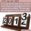 WTF Fun Fact – 1432, 2013, 2031