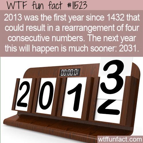 WTF Fun Fact - 1432, 2013, 2031