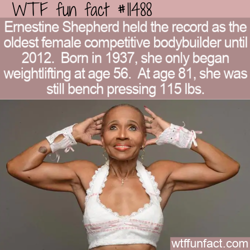 WTF Fun Fact - Ernestine Shepherd