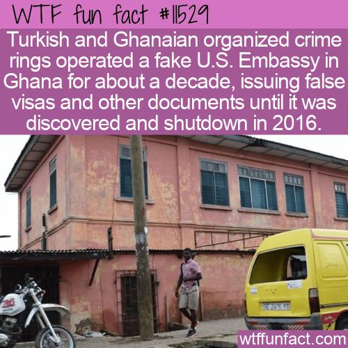 WTF Fun Fact - Fake Ghanaian US Embassy