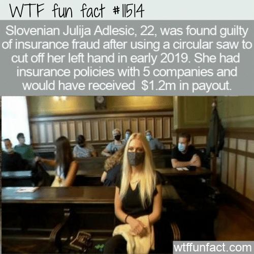 WTF Fun Fact - Fraudster Cut Off Own Hand