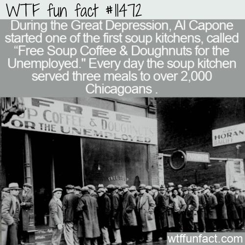 WTF Fun Fact - Free Soup Coffee & Doughnuts