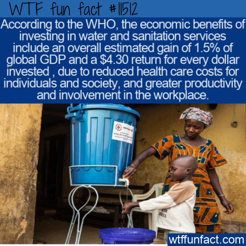 WTF Fun Fact - Investment In Water And Sanitation (1)