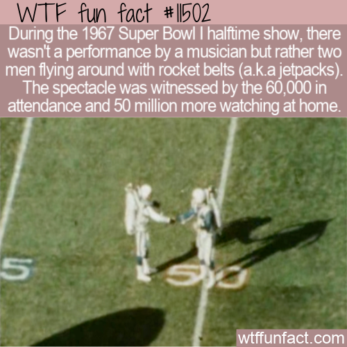 WTF Fun Fact - Jetpacks At Halftime