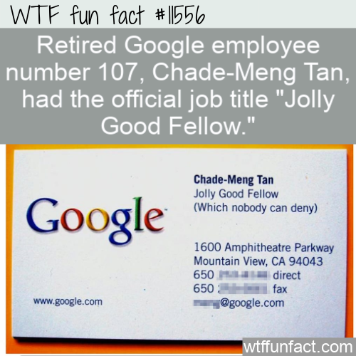 WTF Fun Fact - Jolly Good Fellow