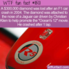 WTF Fun Fact – Missing Diamond After F1 Crash