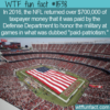 WTF Fun Fact – Paid Patriotism