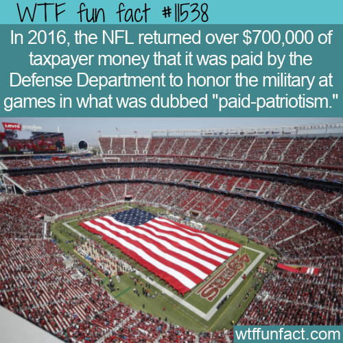 WTF Fun Fact - Paid Patriotism