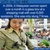 WTF Fun Fact –  A Glass Box With 6000 Scorpions