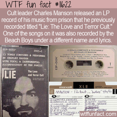 WTF Fun Fact - Charles Manson And The Beach Boys